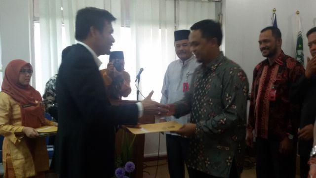 KPU Inhu Penyelenggara Pemilu Berprestasi Peringkat I