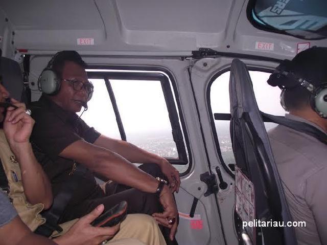 Bupati Suyatno Dan Kapolres Subiantoro Pantau Karhutla Pakai Helikopter