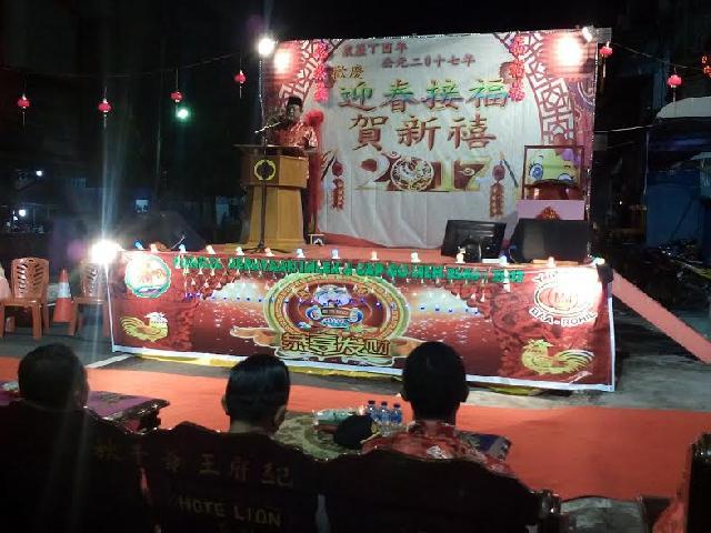 Perayaan Malam Imlek di Bagansiapiapi Meriah Dihadiri Wakil Bupati