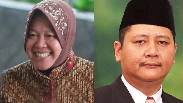 Pasangan Risma-Whisnu Daftar ke KPUD Surabaya