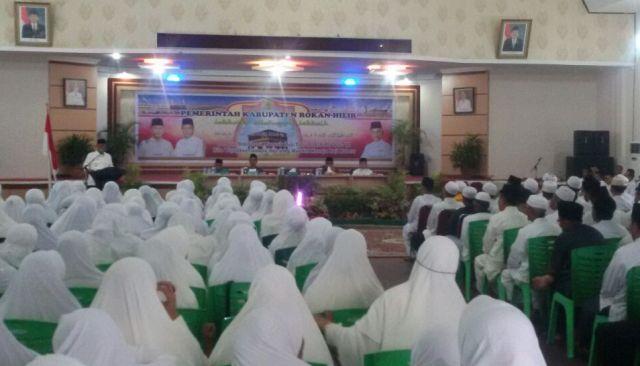 Pemda Rohil Mengelar Bimbingan Manasik Haji kepada CJH