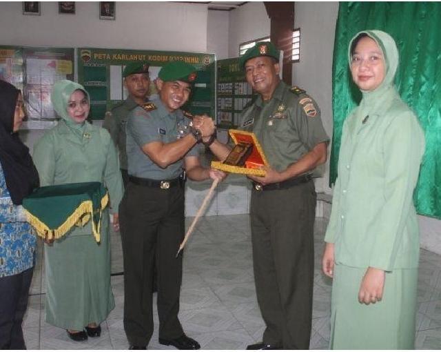 Kasdim 0302 Inhu Kosong, Dandim Mujibburrahman Pimpin Laporan Pindah Tugas