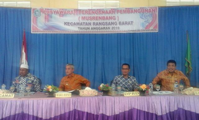 Wakil Bupati Meranti Buka Musrenbang Kecamatan Rangsang Barat, Dengar Aspirasi Tiap Desa