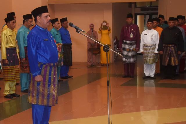 Sekda Inhil Pimpin Apel Hari Jadi Riau ke 59