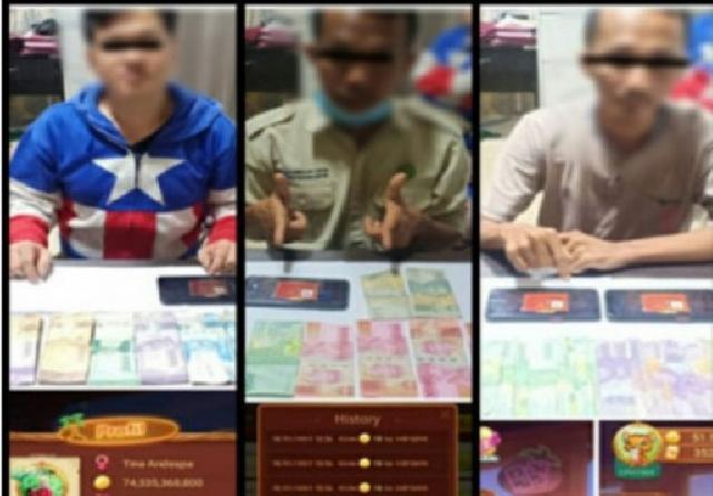 Terlibat Jual Beli Chips Higgs Domino Island, 3 Warga Selatpanjang Ditangkap Polisi