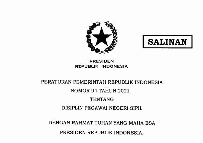PP 94/2021,  Inilah Kewajiban dan Larangan Bagi PNS