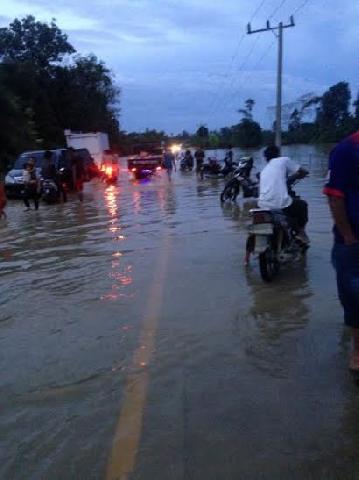 Banjir di Inhu, Dua Sungai Besar Meluap