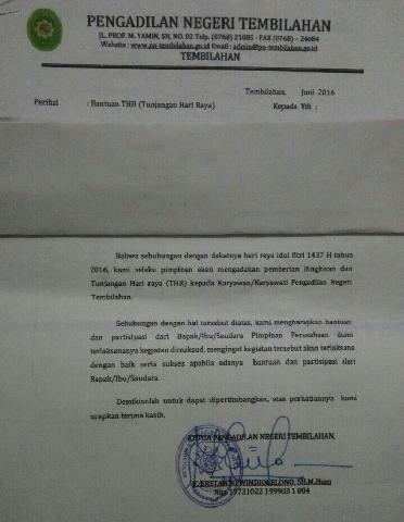 KY Nilai Ketua Pengadilan Tembilahan Minta THR Coreng Martabat Peradilan