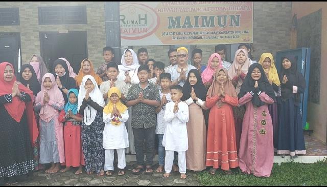 Ngintip Kegiatan SYI'AR, Anak Panti Asuhan Berdoa Siti Aisyah Jadi Bupati Inhu Agus Rianto Wakilnya