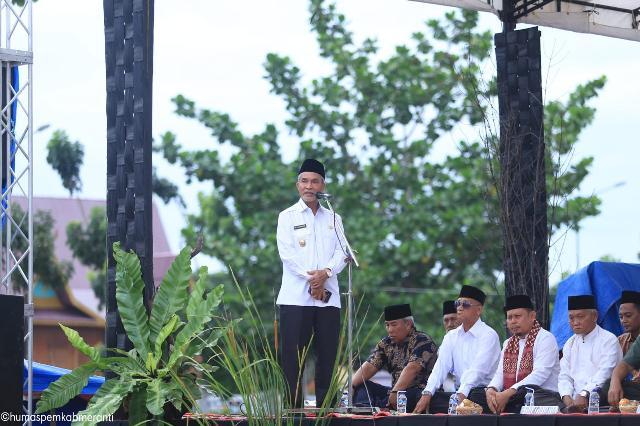 Penggalangan Dana Bantuan Korban Bencana NTB dan Sulawesi Tengah Pemkab Meranti Gelar Doa Bersama
