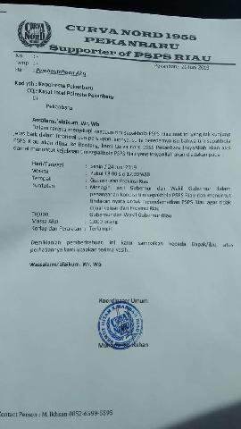 Besok, Suporter PSPS Riau Curva Nord  Lanjutkan Aksi di Kantor Gubernur Riau