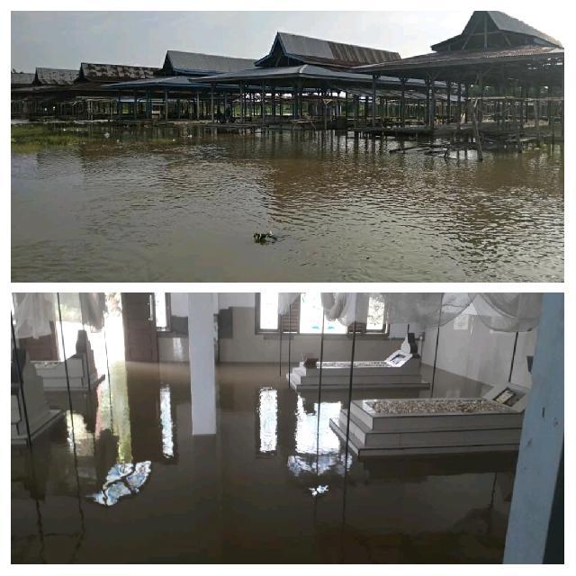 Surau Suluk Syekh Muhammad Kayo dan Ratusan Rumah Warga  Sontang Direndam Banjir