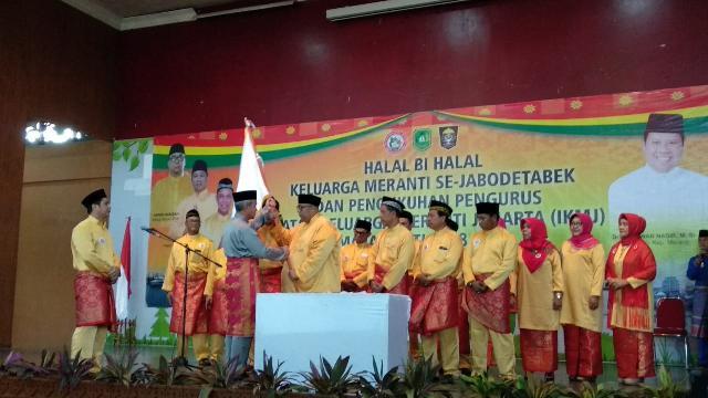 Wakil Bupati Meranti Mengukuhkan Pengurus IKMJ Masa Khidmat 2018-2021, Sekaligus Halal Bi Halal