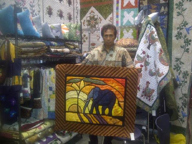 Kain The Creative Quilting Hadir di Pameran The Charisma of Inacraft Nice Pekanbaru