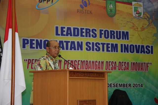 Pelalawan Tuan Rumah Leader Forum Penguatan Sistem Inovasi