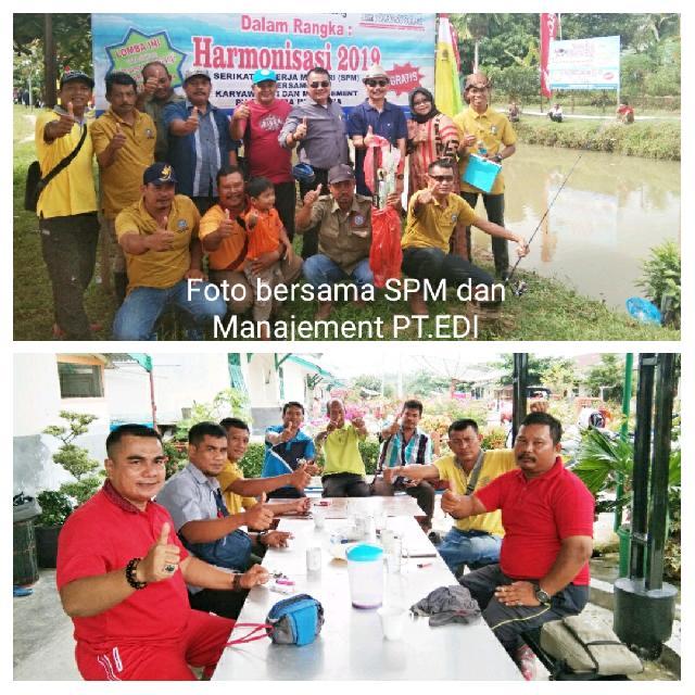 Harmonisasi Karyawan dan Manajemen, SPM PT EDI Gelar Lomba Mancing Mania