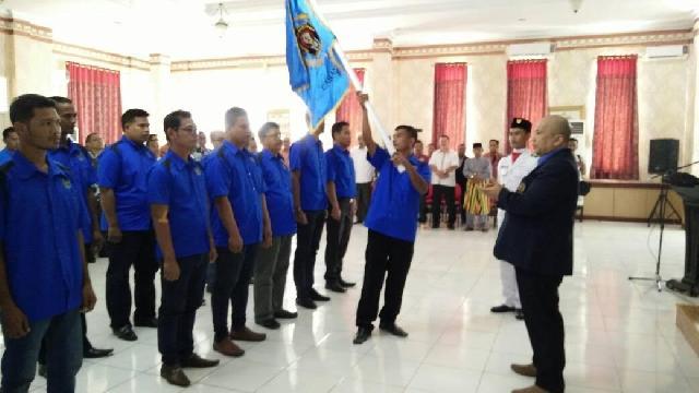 Resmi Dilantik Ketua PWI Riau, Noprio Sandi Nahkodai PWI Rohil