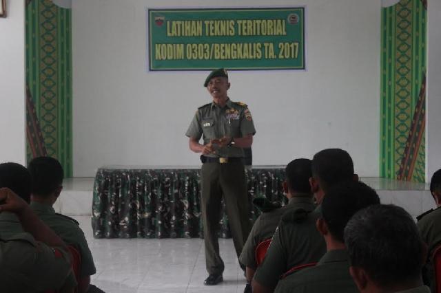 Anggota Kodim 0303 Bkls Melaksanakan Latihan Teknis Teritorial 2017