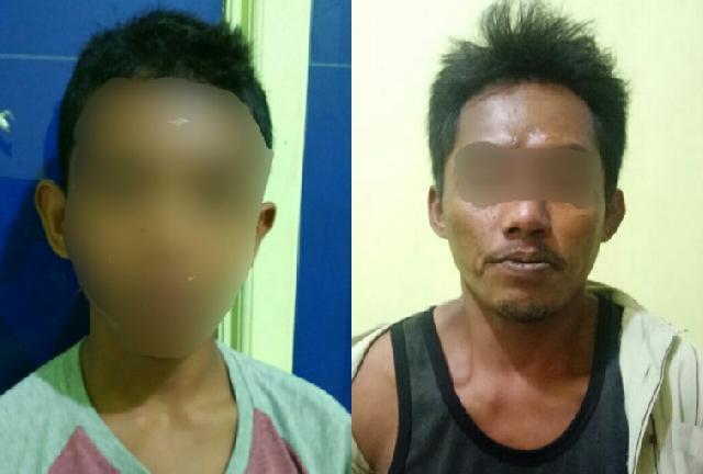 Ajari Anak mencuri, Ayah dan Anak di Tembilahan Diringkus Polisi