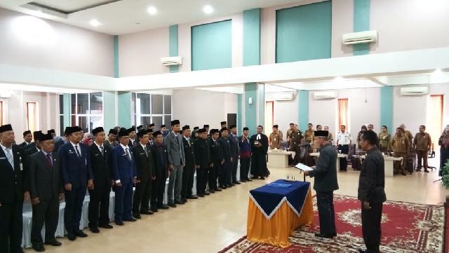 Wakil Bupati Lantik 58 Orang Pejabat Eselon III dan IV Dilingkungan Pemkab Meranti