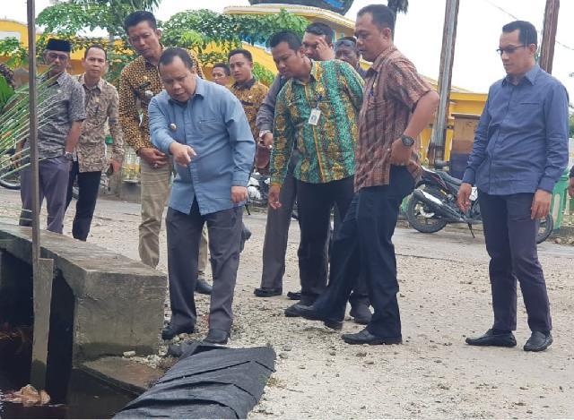 Bupati Meranti Lakukan Monitoring dan Evaluasi Proyek di Kecamatan Rangsang
