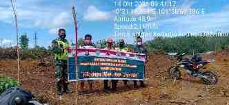 Personil Koramil 05/Prp Lakukan Patroli Sisir Desa Peladangan Untuk Cegah Karhutla