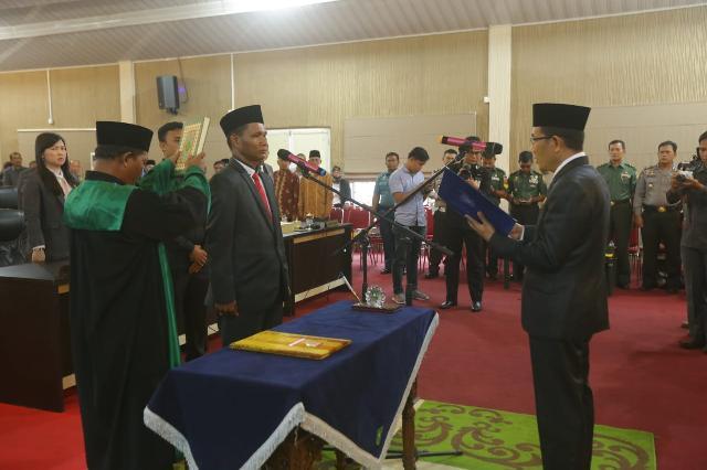 Wakil Bupati Meranti Hadiri Rapat Paripurna PAW Anggota DPRD Meranti