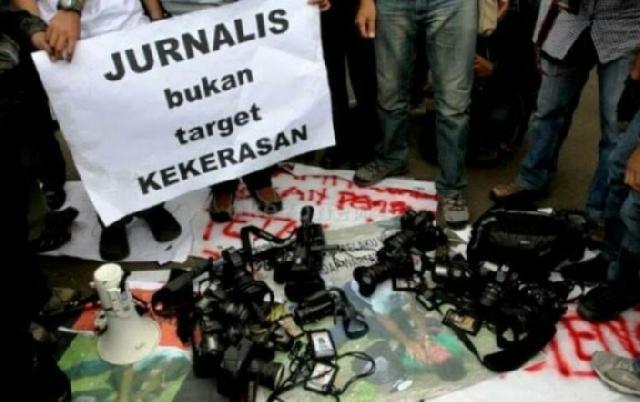 Wartawan Dikeroyok di DPRD Inhil, Aliansi Wartawan Inhil Nyatakan Sikap Bersama