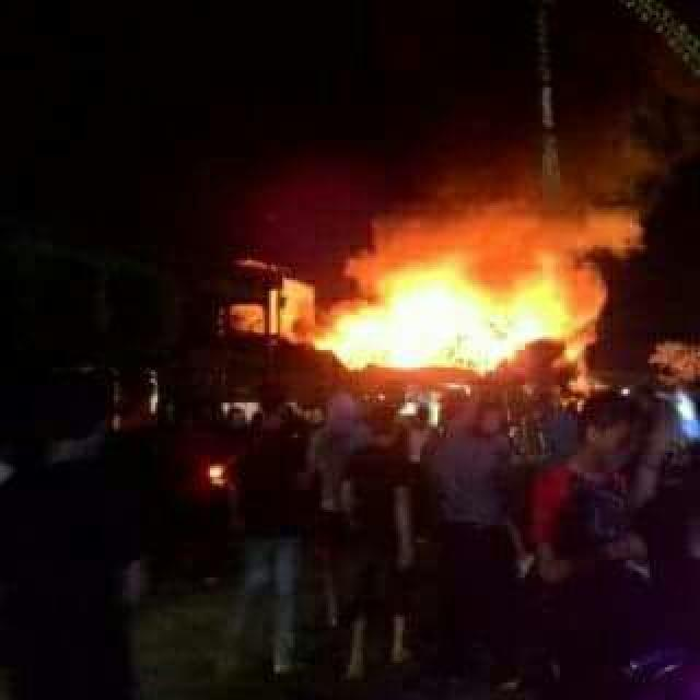 Kebakaran, 11 Unit Rumah di Tembilahan Rata Dengan Tanah
