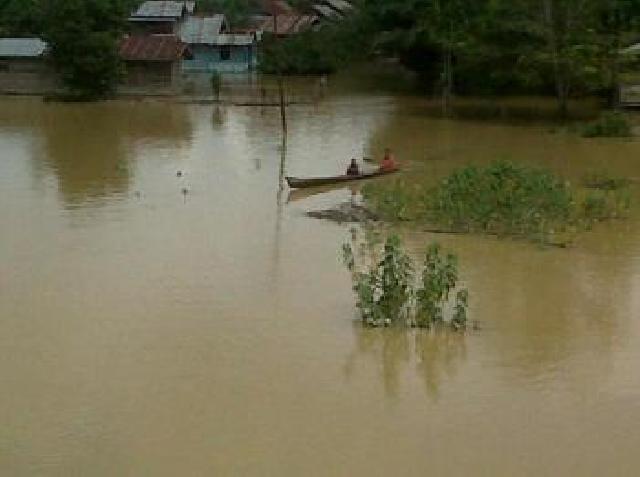 Bupati Kampar Membangun Penampungan Banjir Permanen