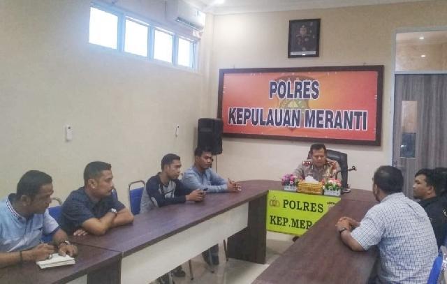 Operasi Antik Sukses Ketua DPC Granat Meranti Apresiasi Kinerja Polres Meranti