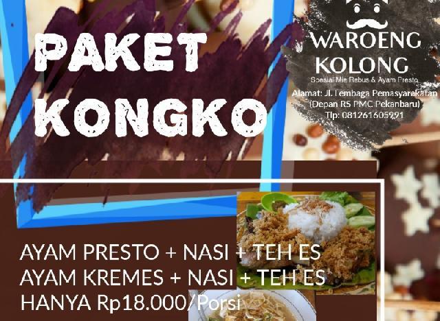 Jumat Berkah, Waroeng Kolong Berbagi Mie Rebus di Masjid RS PMC Pekanbaru