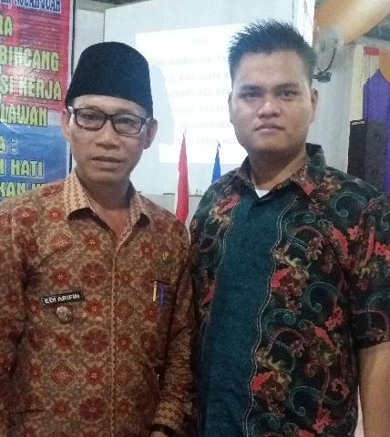 Ketua  Pemuda Batak Riau Ikut Serta Mensukseskan Acara Bincang-Bincang Dan Evaluasi Kerja IKBR Pelal