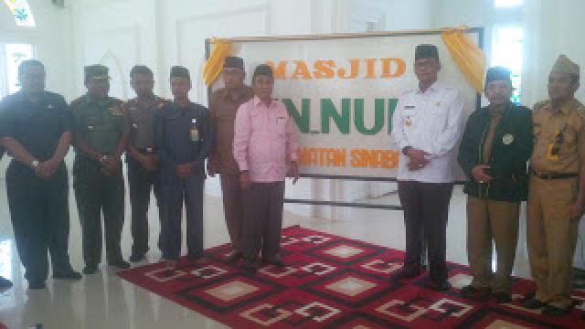 Resmikan Masjid Raya An-Nur di Sinaboi, Bupati Suyatno: Ramaikan Sholat Berjemaah di Masjid