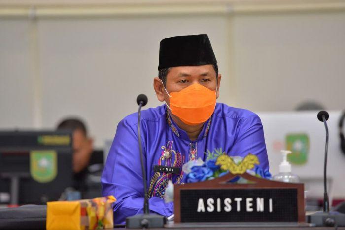 Asisten I Setdaprov Riau Hadiri Webinar Peringatan HUT BNPP Ke-11