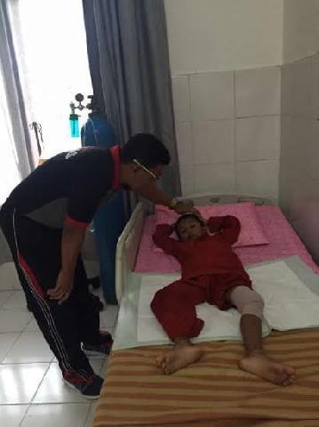 Mengejar Perampok, Siswa SD 003 Bangko Terkena Peluru Nyasar Polisi.
