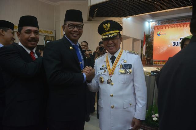 Bupati Suyatno Hadiri Pelantikan Bupati dan Wakil Bupati Inhil Masa Jabatan 2018-2023