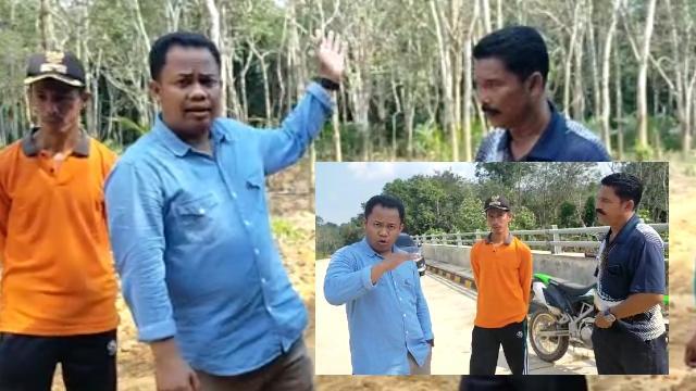 2018 Inhu Bangun Jembatan Rp23 milyar di Batang Peranap, Jalanya Dibangun Gotoroyong