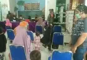 Babinsa 04/PP Dampinggi Kegiatan Vaksinasi Tahap Ke 2 di Desa Lembah Dusun Gading