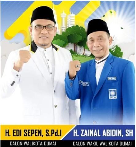 Pilkada Dumai, PKS Serahkan SK Dukungan Edi Sepen-Zainal Abidin Hari Senin