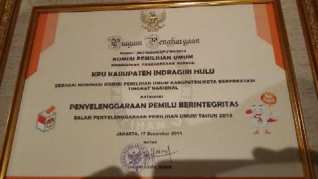 KPU Inhu Penyelenggara Pemilu Berintegritas Nasional