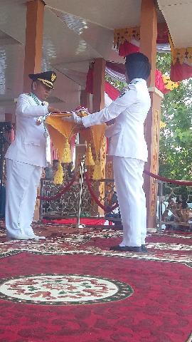Detik-Detik Peringatan 17 Agustus Ke-71 Di Kabupaten Pelalawan