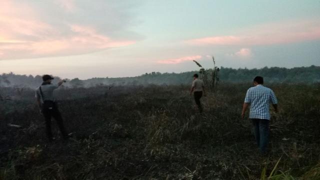 Lahan Di Sungai Gayung Pulau Rangsang Terbakar