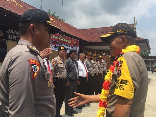 Kapolda Riau Irjen Pol Nandang Di Sambut Meriah di Kota Sagu