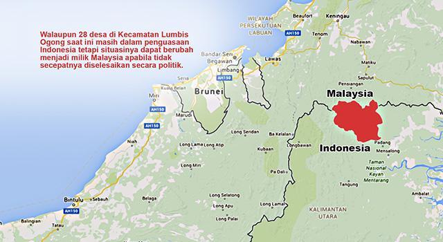 Status OBP, 28 Desa di Indonesia di Kuasai Malaysia