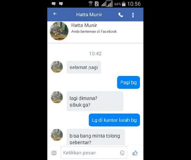 Facebook Hatta Munir Di. Retas