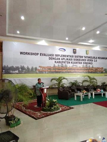 Bupati Mursini Resmi Buka Workshop Evaluasi Implementasi Sistem Tatakelola Keuangan Desa