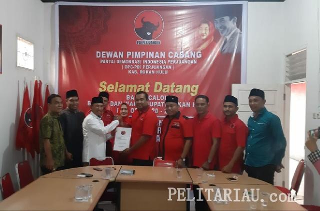 Hafizt Sukri Mendaftar ke PDI P Rohul, PKB dan PDI Perjuangan Ingin Berkoalisi di Pilkada 2020
