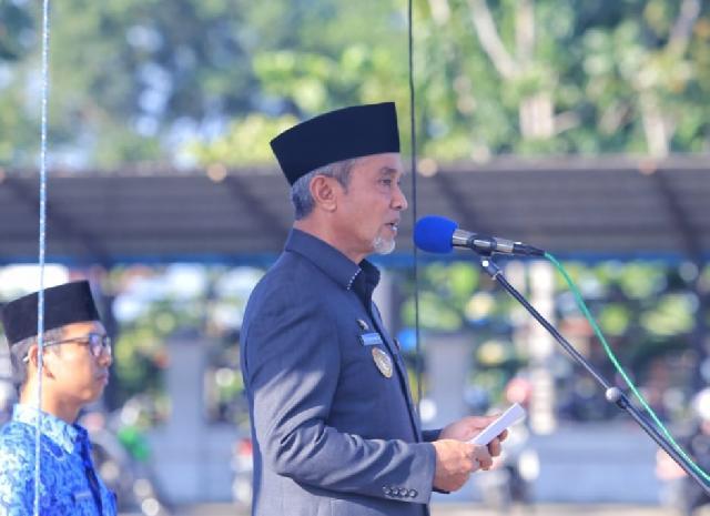 Wabup Said Hasyim Pembina HUT Korpri Ke-48 Tahun 2019 Dilingkungan Pemkab Meranti