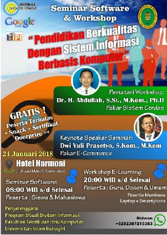 Prodi Sistem Informasi Agendakan Seminar Software dan Workshop E-Learning